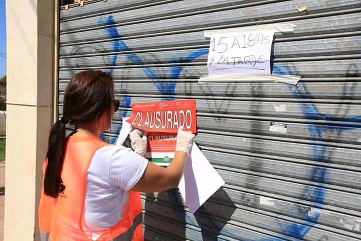 Más de 15 negocios clausurados en Echeverría por incumplir la cuarentena