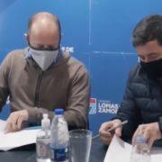 VIDEO: las imágenes de la reunión de Martín Insaurralde con Daniel Arroyo, dos días antes de dar positivo