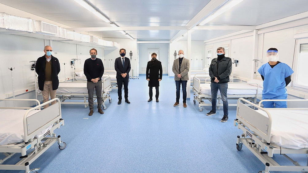 Cafiero y Kicillof inauguraron el Hospital Modular de Fiorito