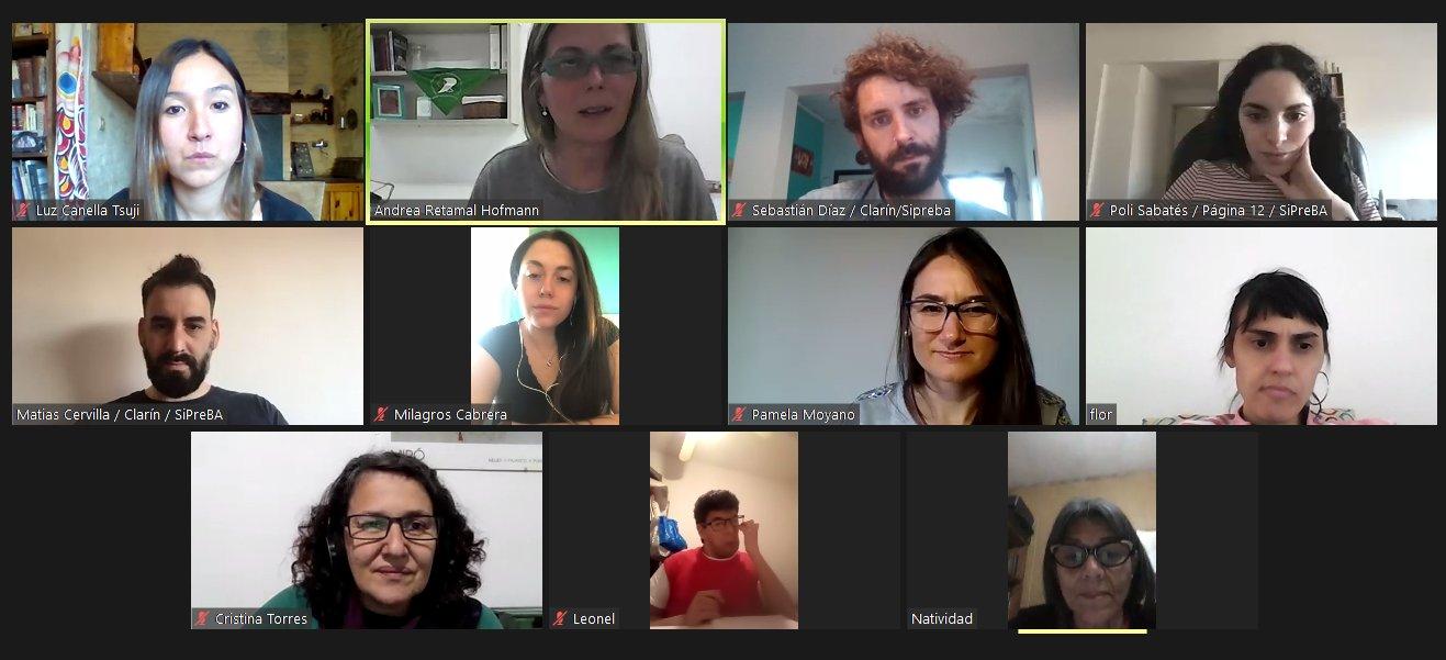 Una charla sobre los desafíos de les trabajadores de prensa desde las redacciones
