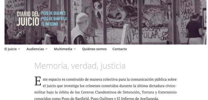 """""""Diario del Juicio"""", un proyecto para mantener viva la memoria"""