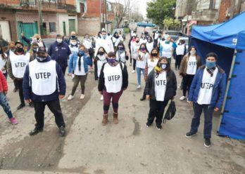 """La UTEP rechazó el """"acta compromiso"""" de Grindetti para suspender protestas en la calle"""