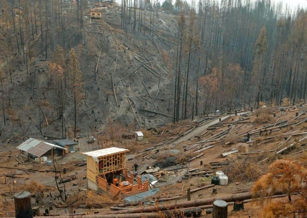 Tras el incendio, las familias de la Comarca Andina avanzan en la reconstrucción de los hogares
