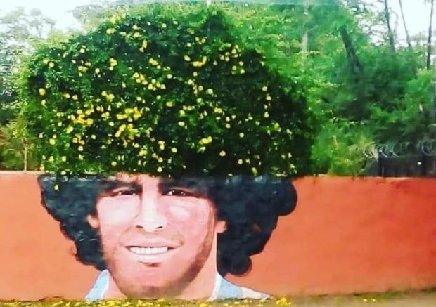 """El mural """"vivo"""" de Maradona"""