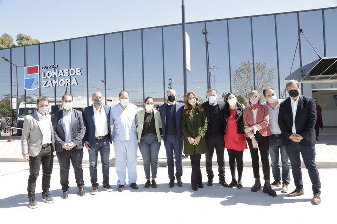 Kicillof inauguró los hospitales odontológico y oftalmológico en Lomas de Zamora