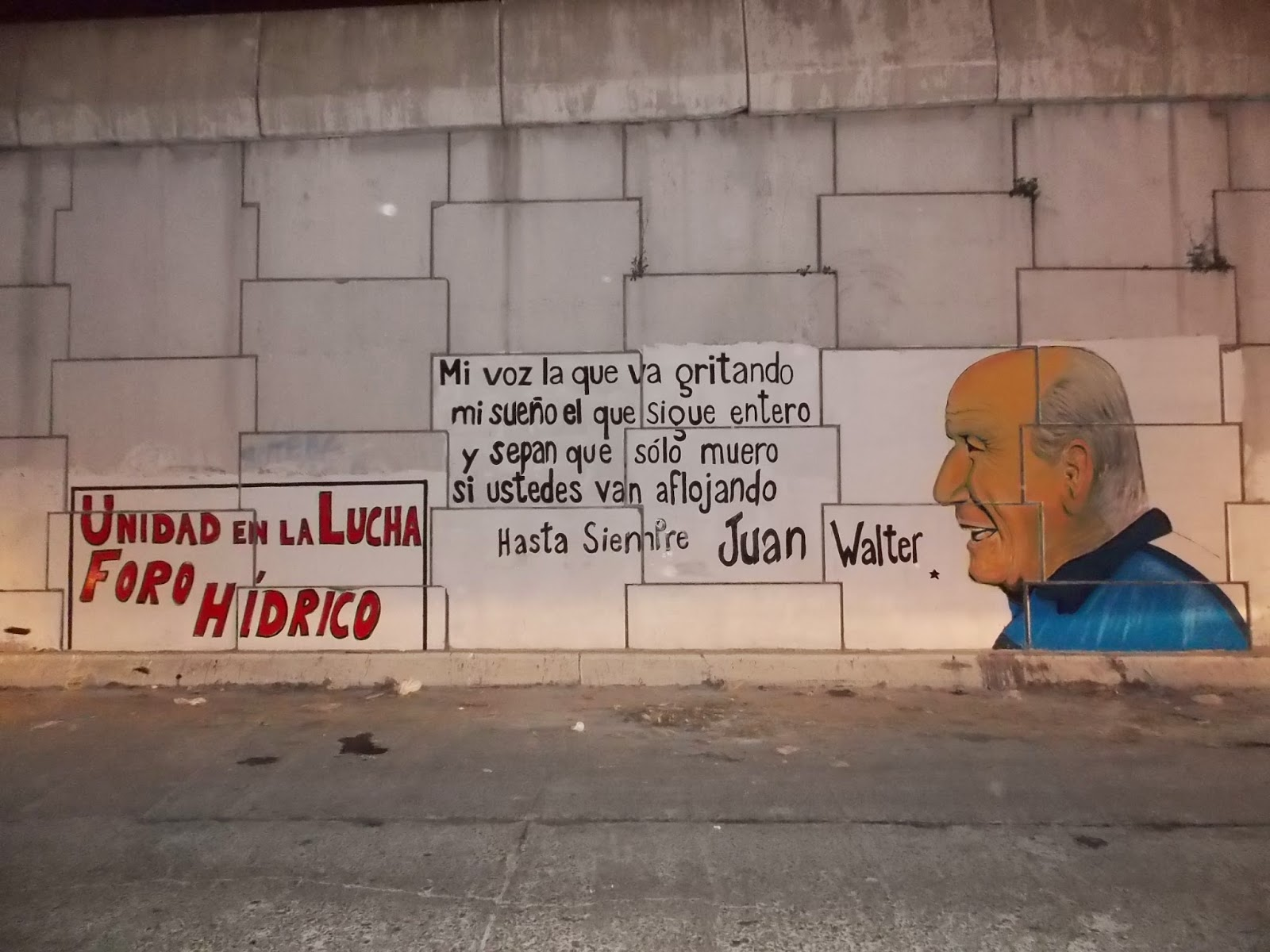 Mural dedicado a Juan Walter