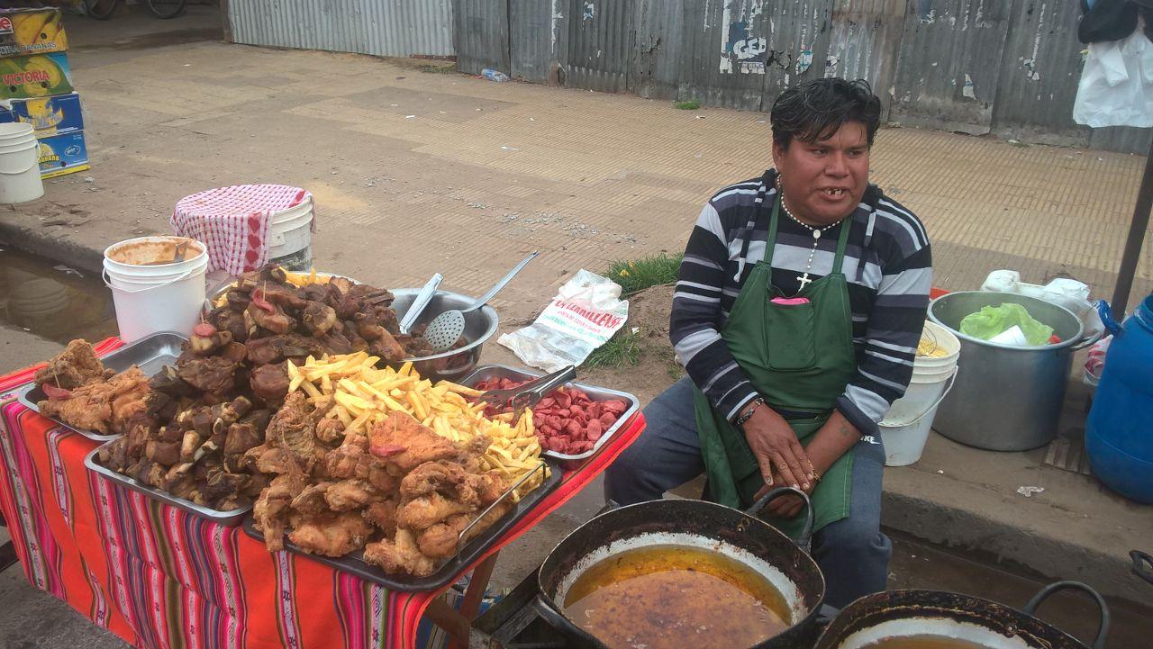 Caminata a Luján vendedores