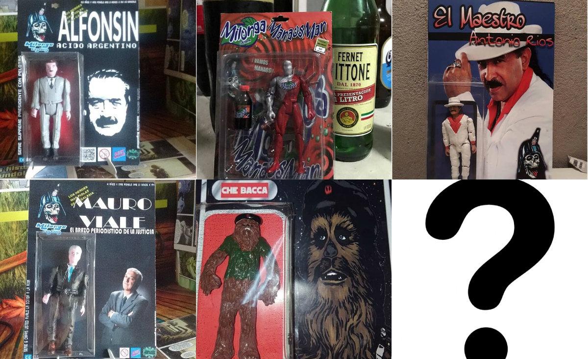 Alfonsín, Ricky Fort, el Manaos Man: estos muñecos bizarros están muy bien