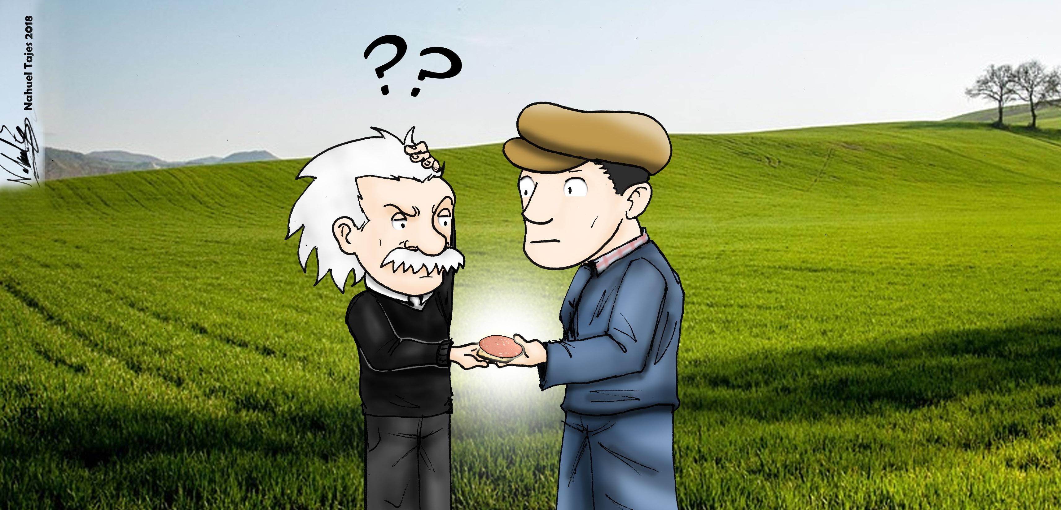 Einstein en Llavallol, entre átomos y mortadela