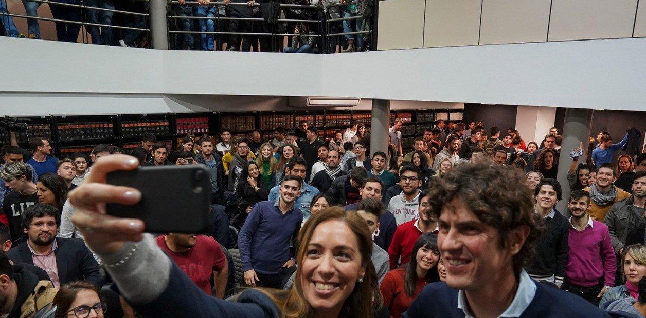 En plena campaña, Vidal y Lousteau visitaron la UNLZ