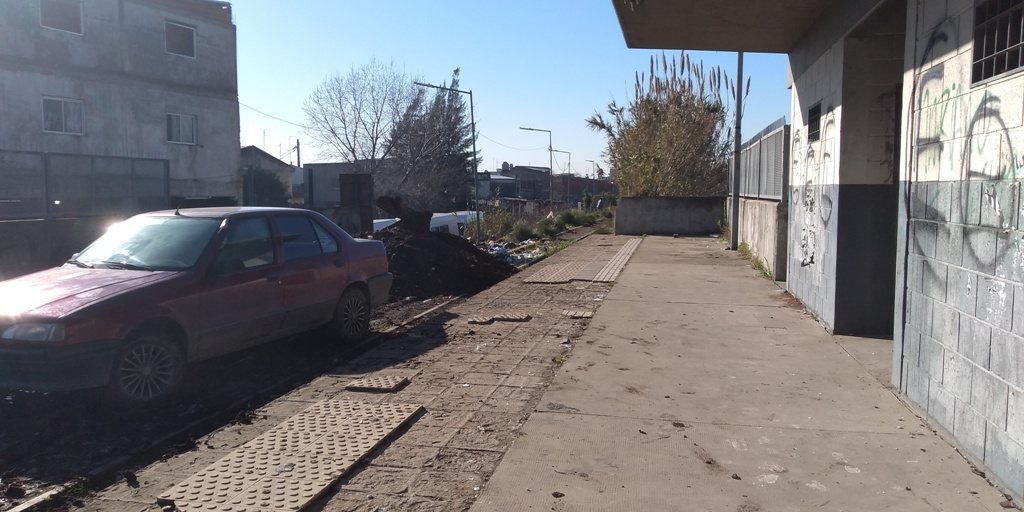 Lo que queda de la estación La Salada, en Lomas de Zamora.