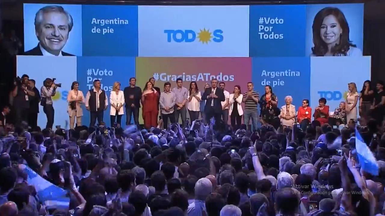 Alberto Fernández es el presidente electo en primera vuelta