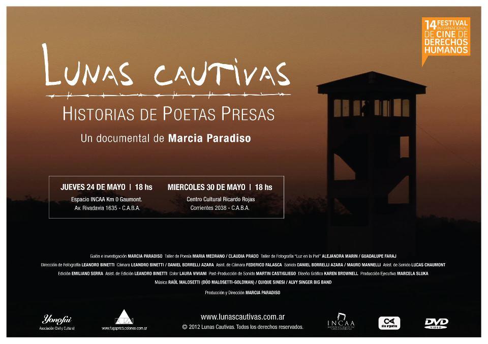"""Se estrena """"Lunas Cautivas"""", un documental sobre poesía tras las rejas"""