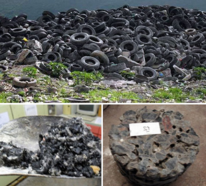 Desarrollan un pavimento a base de hormigón y neumáticos usados