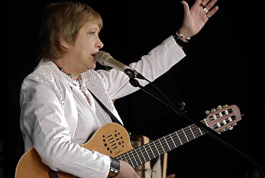 Teresa Parodi en Lanús por el 9 de Julio